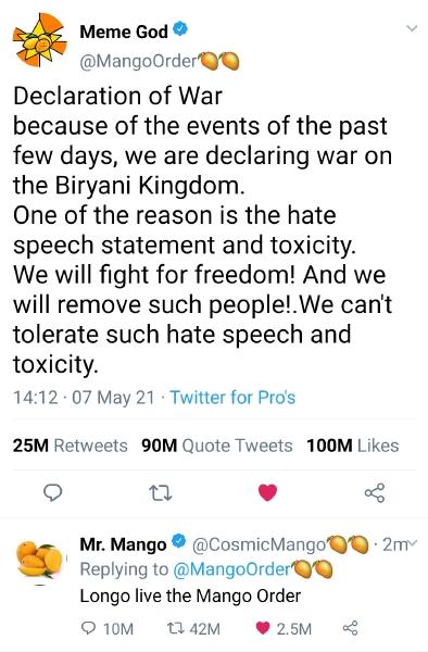 War on Biryani